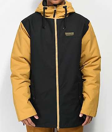 Airblaster Toaster 10K chaqueta de snowboard negra y dorada