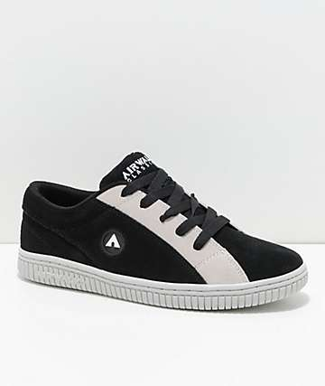 Airwalk Random Black & White Skate Shoes