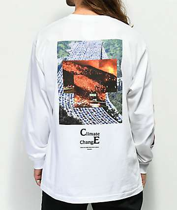 Akomplice Climate Crisis White Long Sleeve T-Shirt