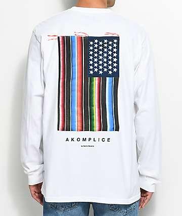Akomplice Mi Bandera camiseta blanca de manga larga