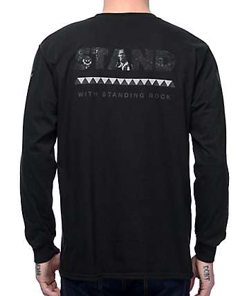 Akomplice Standing Rock Black Long Sleeve T-Shirt