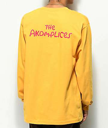 Akomplice The Akomplices camiseta naranja de manga larga