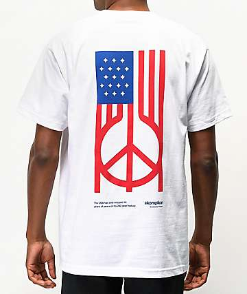 Akomplice US Peace White T-Shirt