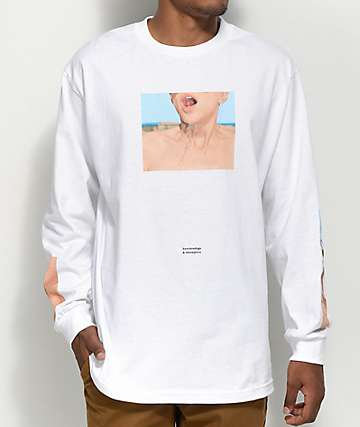 Akomplice x Synchrodogs Fortune White Long Sleeve T-Shirt