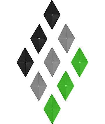 Alibi Diamond Black, Silver & Green Stomp Pad