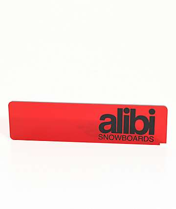Alibi raspador de cera de snowboard en rojo