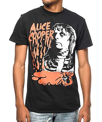Alice Cooper Drip Black T-Shirt