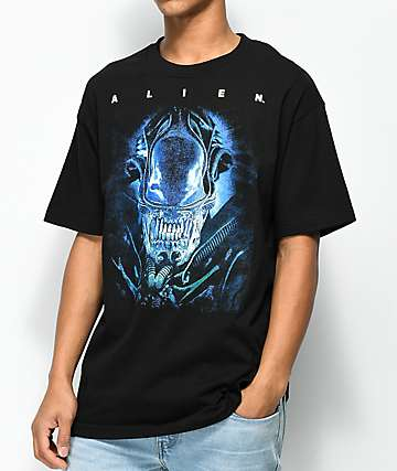 Alien Vintage Face Black T-Shirt