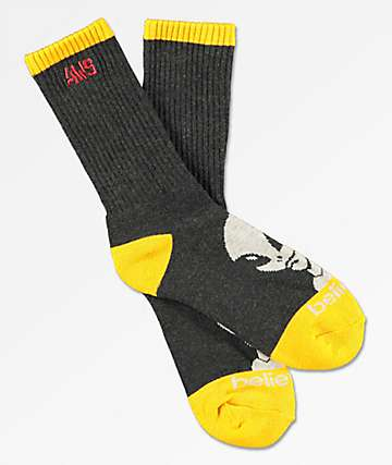 Alien Workshop Believe Black & Yellow Crew Socks