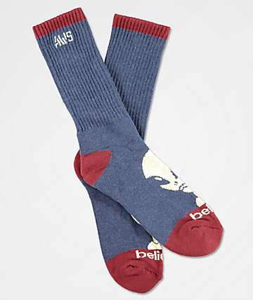 Alien Workshop Believe Blue & Red Crew Socks
