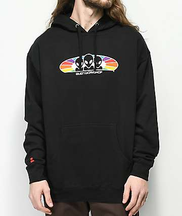 Alien Workshop Spectrum sudadera negra con capucha