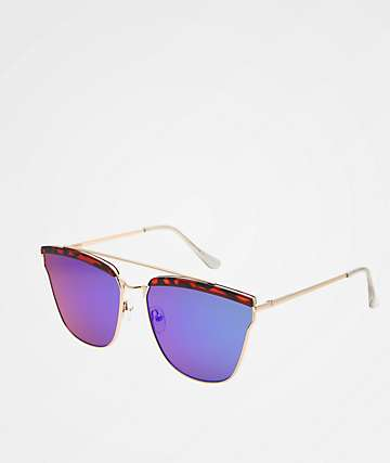 Alisa Brown Tortoise Large Frame Sunglasses