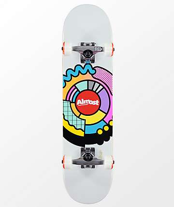 "Almost Center Block 7.25"" Skateboard Complete"