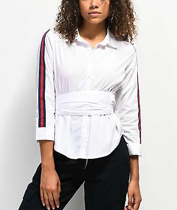 Almost Famous Ami White Button Up Shirt