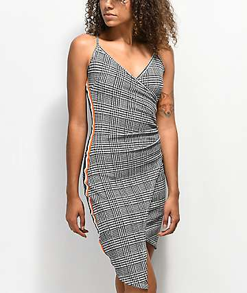 Almost Famous Asymmetric Plaid Athletic Dress