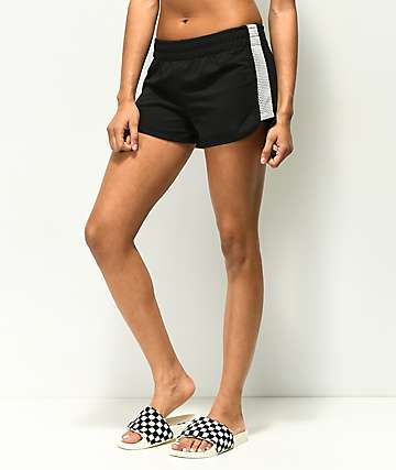 Almost Famous Black Mesh Dolphin Shorts