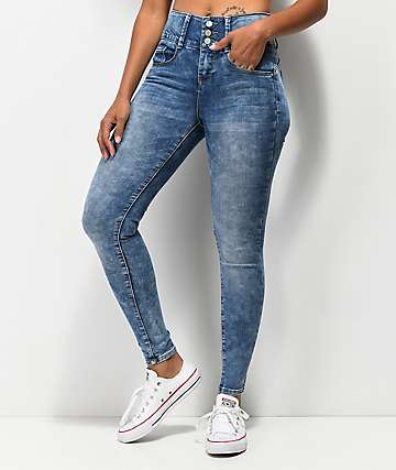 Almost Famous Bombshell Light Wash Skinny Jeans