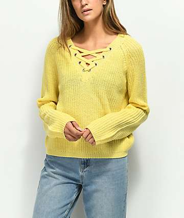 Almost Famous Darla suéter amarillo