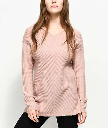 Almost Famous Kyia suéter rosa con capucha