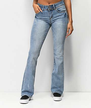 Almost Famous Light Wash Boot Cut Jeans