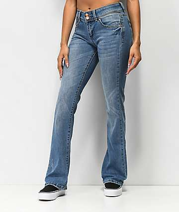 Almost Famous Medium Wash Flare Jeans
