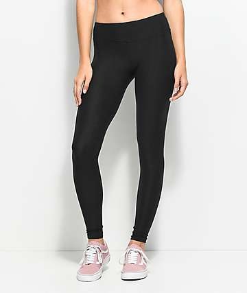 Almost Famous Peached Black Jersey Leggings