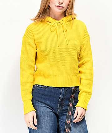 Almost Famous Ryann suéter amarillo con capucha
