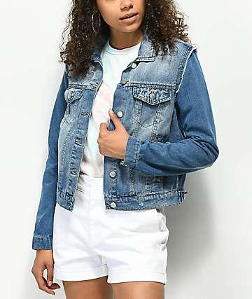 Almost Famous chaqueta de piezas de mezclilla