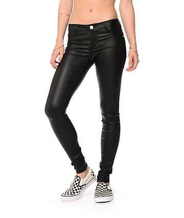 Almost Famous skinny jeans negro cubierto