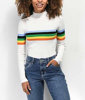 Almost Famous suéter de rayas multicolor