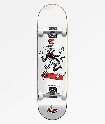 "Almost x Dr. Seuss Cat Tre 7.75"" Skateboard Complete"