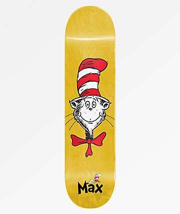 "Almost x Dr. Seuss Max Cat Face R7 8.0"" Skateboard Deck"