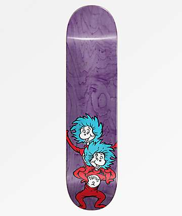 """Almost x Dr. Seuss Thing Stacked Purple 8.25"""" Skateboard Deck"""