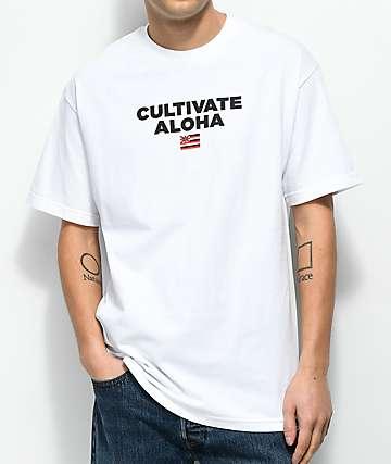 Aloha Army Cultivate camiseta blanca