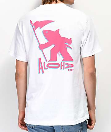 Aloha Army Got Ahi White T-Shirt