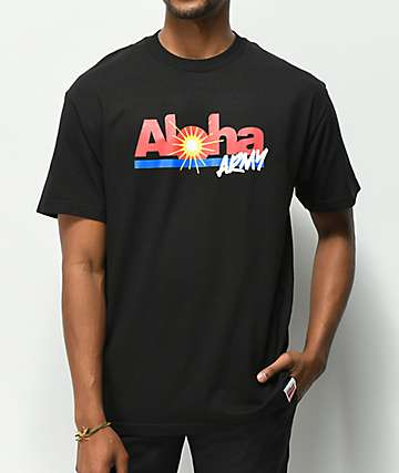 Aloha Army Plantation Black T-Shirt