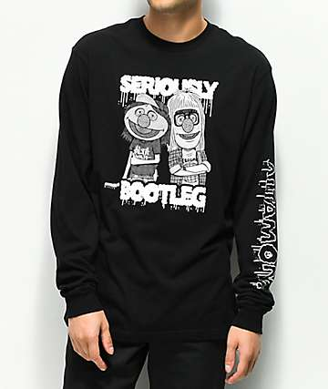 Altamont Bootleg Black Long Sleeve T-Shirt
