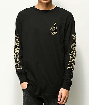 Altamont Fire camiseta negra de manga larga