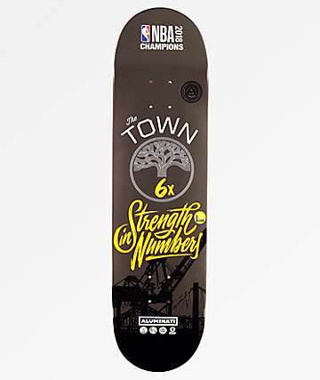 Aluminati Golden State Warriors Champions tabla de skate de 8.25""