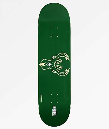 "Aluminati Milwaukee Bucks 8.25"" Skateboard Deck"