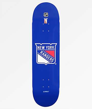 "Aluminati New York Rangers 8.25"" Skateboard Deck"