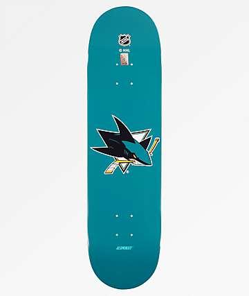 """Aluminati San Jose Sharks 8.25"""" Skateboard Deck"""