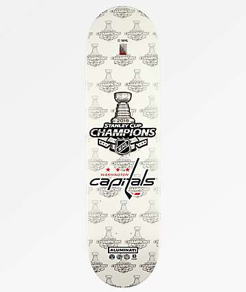 "Aluminati Washington Capitals Stanley Cup Champions 8.25"" Skateboard Deck"