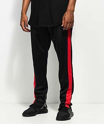 American Stitch Black & Red Track Pants