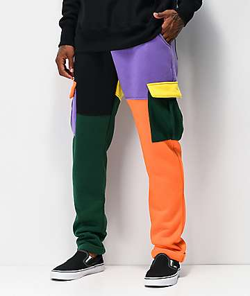 American Stitch Colorblock Cargo Sweatpants
