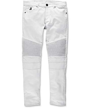 American Stitch Denim Collection Moto White Slim Fit Jeans