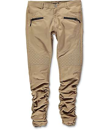 American Stitch Khaki Basket Woven Twill Bungee Jogger Pants