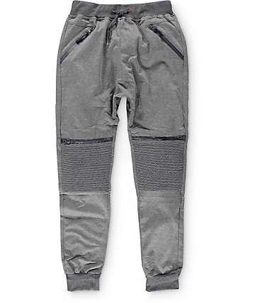 American Stitch Knit Moto Zip Jogger Pants