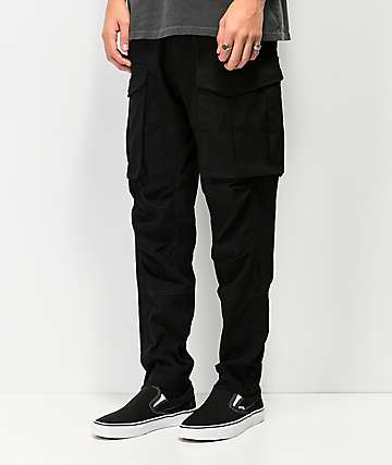 American Stitch Slim Black Cargo Pants