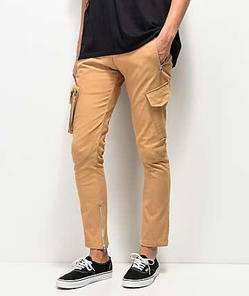 American Stitch Slim Khaki Cargo Pants